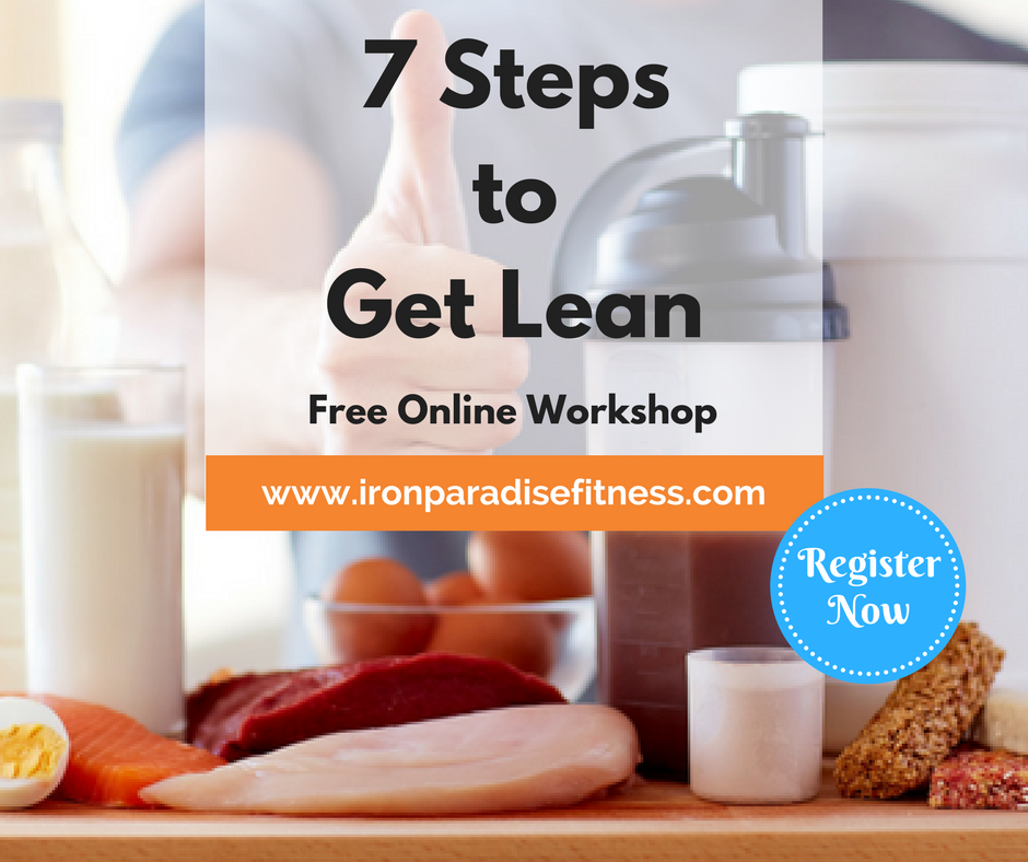 7 Steps to Get Lean - Iron Paradise Fitness Nutrition Workshop (Fasted Cardio Blog)