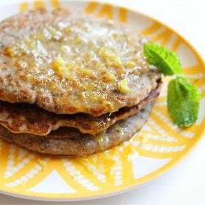 chia seed recipes: buckwheat and chia seed pancakes