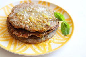 chia seed recipes: buckwheat pancakes