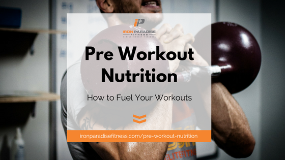 Pre workout nutrition Blog Cover Pic