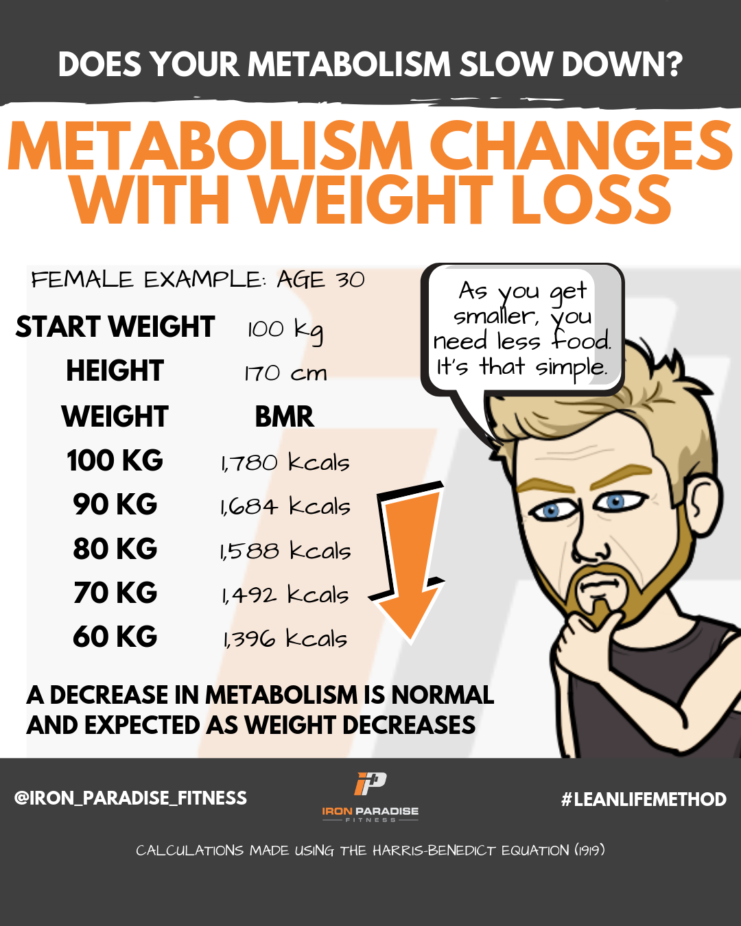 Metabolism Changes With Weight Iron Paradise Fitness